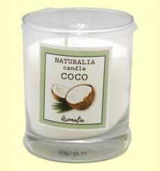 Vela Aromática de Coco en Vaso de Cristal - Aromalia - 1 unidad