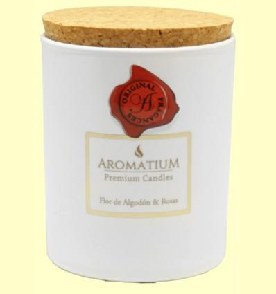 Vela Perfumada Flor de Algodón y Rosas - Aromalia - 1 unidad