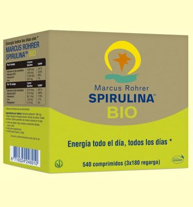 Espirulina Bio - Marcus Rohrer Recarga - 540 comprimidos