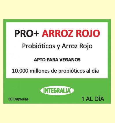 Pro+ con Arroz Rojo - Probióticos - Integralia - 30 cápsulas