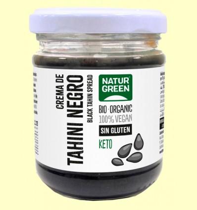 Tahín Puré Sésamo Negro Bio - NaturGreen - 180 gramos