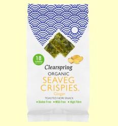 Alga Snack Nori Jengibre - Clearspring - 4 gramos