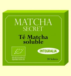 Matcha Secret - Té Matcha Ecológico Soluble - Integralia - 20 sobres