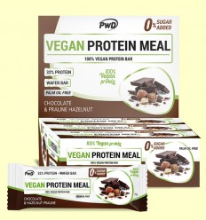 Vegan Protein Meal Chocolate Praliné - PWD - 12 barritas