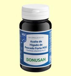 Aceite de Hígado de Pescado Forte MSC - Bonusan - 120 cápsulas