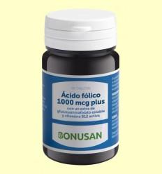 Ácido Fólico 1000 mcg Plus - Bonusan - 90 tabletas