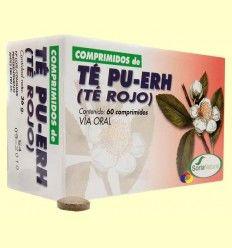 Té Rojo Pu-Erh Comprimidos - Soria Natural - 60 comprimidos