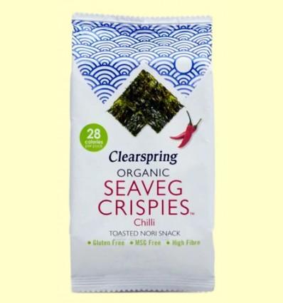 Alga Snack Nori Chili - Clearspring - 4 gramos