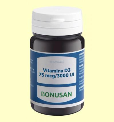 Vitamina D3 75mcg 3000 UI - Bonusan - 60 cápsulas
