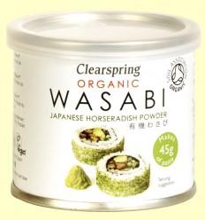 Wasabi Orgánico en lata - Clearspring - 25 gramos