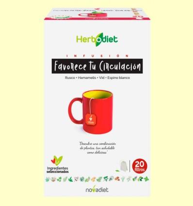 Infusión Herbodiet Favorece tu Circulación - Novadiet - 20 bolsitas filtro
