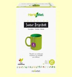 Infusión Herbodiet Suave Respirar - Novadiet - 20 bolsitas filtro
