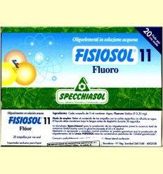 Fisiosol 11 Fluor - Fluoro - Specchiasol - 20 ampollas