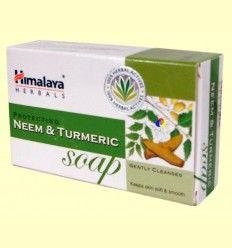 Jabón con neem y cúrcuma - Himalaya Herbals - 75 gramos