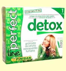 Detox Perfect Line - Eliminación de líquidos - Pinisan - 15 viales
