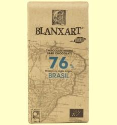 Chocolate Negro Brasil 76% Bio - Blanxart - 125 gramos