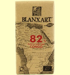 Chocolate Negro 82% Congo Bio - Blanxart - 125 gramos
