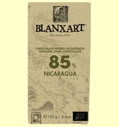 Chocolate Negro 85% Nicaragua Bio - Blanxart - 125 gramos