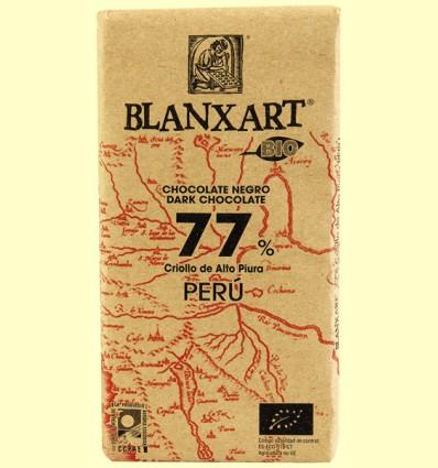 Chocolate Negro 77% Perú Bio - Blanxart - 125 gramos