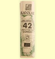 Chocolate con Leche 42% Congo Bio - Blanxart - 48 gramos