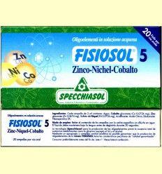 Fisiosol 5 Zinc Niquel Cobalto - Specchiasol - 20 ampollas