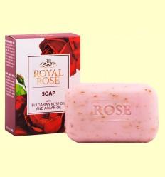 Jabón en Pastilla con Aceite de Rosa de Bulgaria y Argán - Biofresh Royal Rose - 100 gramos