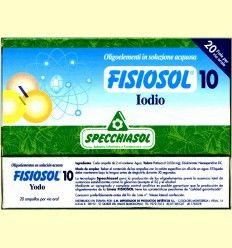 Fisiosol 10 Yodo - Iodo - Specchiasol - 20 ampollas