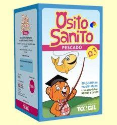 Osito Sanito Pescado Omega 3 - Tongil - 50 gelatinas masticables