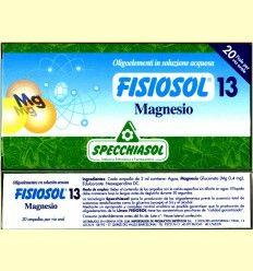 Fisiosol 13 Magnesio - Specchiasol - 20 ampollas *