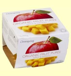Puré de Frutas Orgánicas - Manzana y Mango - Clearspring - 2 x 100 gramos