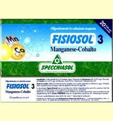 Fisiosol 3 Oligoelemento Manganeso-Cobalto de Specchiasol