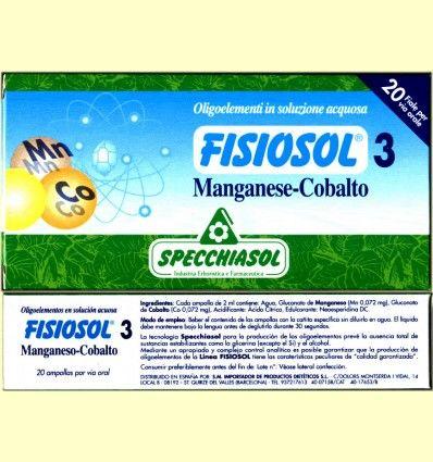 Fisiosol 3 Oligoelemento Manganeso-Cobalto de Specchiasol *