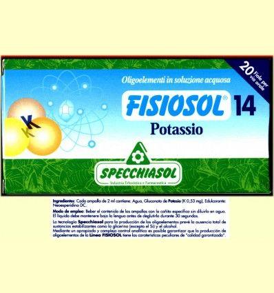 Fisiosol 14 Potasio - Specchiasol - 20 ampollas
