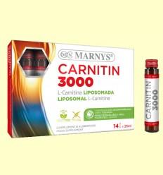 Carnitin 3000 - L-Carnitina Líquida - Marnys - 14 viales