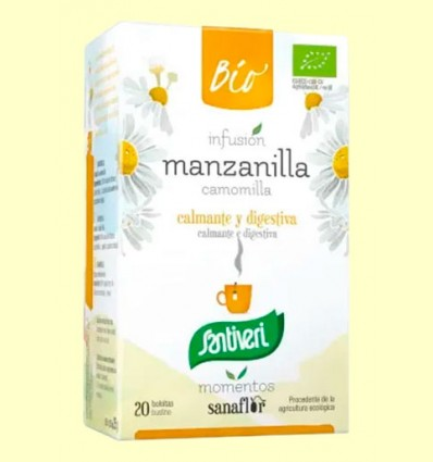 Sanaflor Infusión de Manzanilla Bio - Santiveri - 20 bolsitas