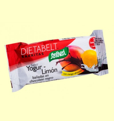 Barrita Sustitutiva Dietabelt con Mango Africano - Sabor Yogur/Limón - Santiveri - 35 gramos