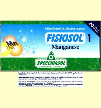 Fisiosol 1 Manganeso - Specchiasol - 20 ampollas