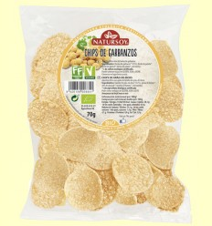 Chips de Garbanzos Bio - Natursoy - 70 gramos