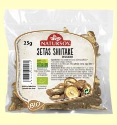 Setas Shiitake Deshidratadas - Natursoy - 25 gramos