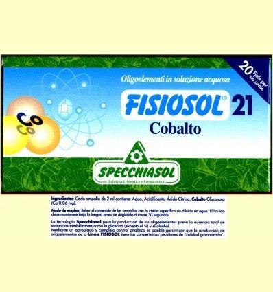 Fisiosol 21 Cobalto - Specchiasol - 20 ampollas