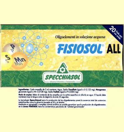 Fisiosol ALL - Specchiasol - 20 ampollas