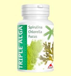 Triple Alga - Chlorella, Espirulina y Focus - Intersa - 120 cápsulas