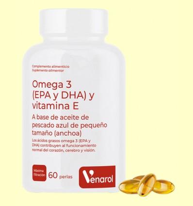 Omega 3 Venarol - EPA, DHA y Vitamina E - Herbora - 60 perlas