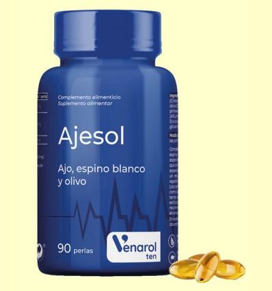 Ajesol Venarol - Ajo, Espino Blanco y Olivo - Herbora - 90 perlas