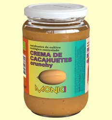 Crema de Cacahuetes Crujiente Bio - Monki - 650 gramos