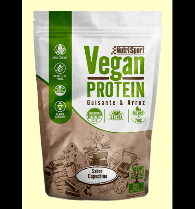 Vegan Protein Guisante y Arroz Capuchino - NutriSport - 520 gramos