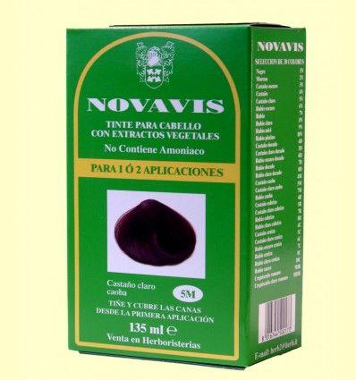 Tinte de Cabello - Castaño Claro Caoba 135 ml - Novavis