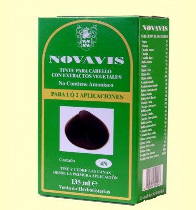 Tinte de Cabello - Castaño 135 ml - Novavis
