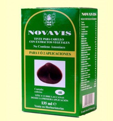 Tinte de Cabello - Castaño Cobrizo 135 ml - Novavis