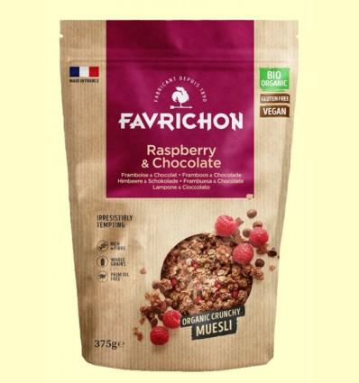 Muesli Crunchy Frambuesa y Chocolate Bio - Favrichon - 375 gramos